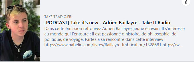 Interview Adrien Baillayre